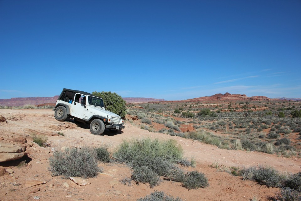 A 7 mile off-road trail to Colorado River views
